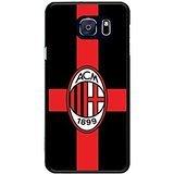 Custom Football Logo AC Milan Phone Cover Skin, Samsung Galaxy s6 edge Solid Case Nice Style