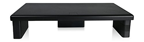 DAC MP-211 Ergonomic Height-Adjustable Ultra-Wide Monitor Riser, Supports Weight Up To 66lbs Keyboard Storage Space