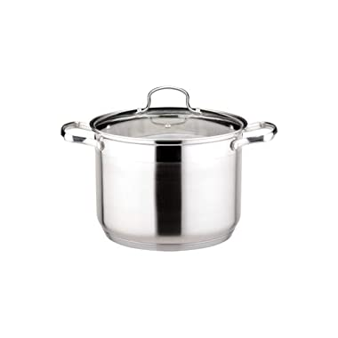 Josef Strauss Le Stock Pot 25 Quart Stockpot | Tempered Glass Lid, Induction Compatible, Oven and Dishwasher Safe, 18/10 Stainless Steel Construction
