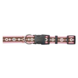 Ancol Adjustable Nylon Dog Collar - Pink Chain