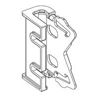 Graber 2 1/2 Inch Wide Dauphine Curtain Rod Brackets, 1 Inch