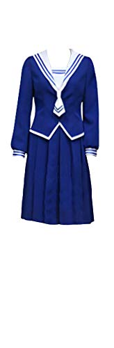 Mtxc Women's Fruits Basket Cosplay Kisa Sohma School Uniform Size XXX-Large Blue