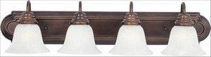 Maxim 85814MRPB, Essentials EE Fluorescent Bath Vanity, 4 Light, 13 Watts, Polished Brass