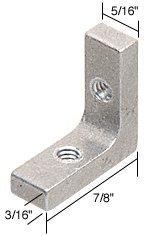 "CRL 5/16"" Tub Enclosure and Sliding Shower Door Corner Brackets - Package by C.R. Laurence"