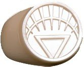 DC Green Lantern Blackest Night White Lantern Ring Plastic