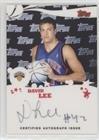 (David Lee (Basketball Card) 2005-06 Topps - Rookie Photos Shoot Autographs #RSA-DL)