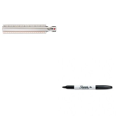 KITBAL812618SAN30001 - Value Kit - Bausch Lomb 2X Magna-Rule Bar Magnifier/Ruler w/Acrylic Lens (BAL812618) and Sharpie Permanent Marker (Lomb Magna Bar Magnifier)