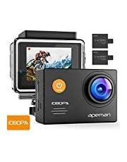 APEMAN Action Cam WiFi FHD 14MP - Unterwasser Kamera Wasserdichte Videocamera mit 24