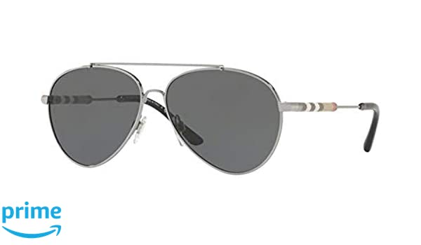 12445072beaf Burberry Women s BE3092QF 12437J 60 Gold Aviator Sunglasses - Rose at  Amazon Women s Clothing store