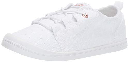 Image of Roxy Women's Briana Slip On Sneaker Shoe White, 10