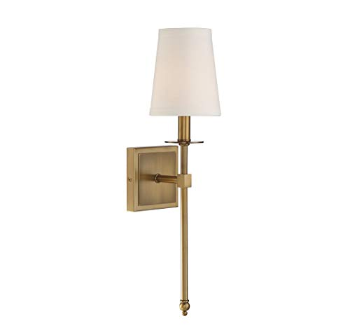 Monroe 1 Light Sconce - Savoy House 9-302-1-322 Monroe 1-Light Sconce in Warm Brass
