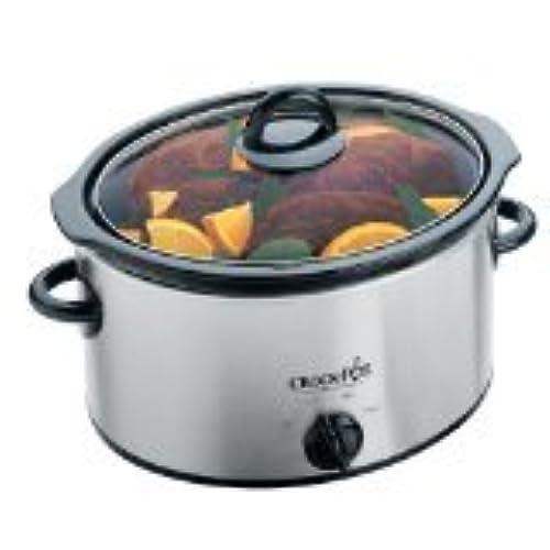 crock pot 3 5 liter stainless steel slow cooker 220 volt  non usa compliant  silver 220v kitchen appliances  amazon com  rh   amazon com