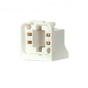 satco 26w 32w horizontal mount 4 pin cfl socket 802108. Black Bedroom Furniture Sets. Home Design Ideas