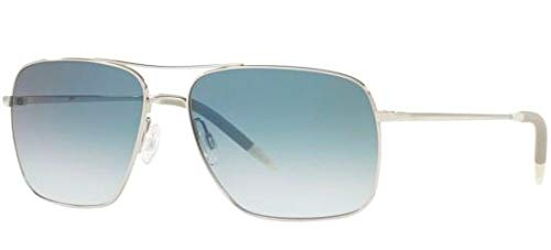 aefb1bee47 Oliver Peoples Unisex Clifton Silver Chrome Saphire Photochromic Vfx