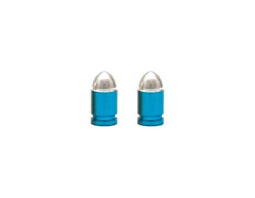 UPC 616241158730, Presta Bullet Valve Caps Blue.