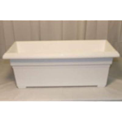 Novelty 331312 Countryside Patio Planter Box, White, 27 Inch : Garden & Outdoor