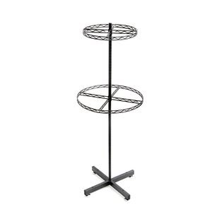 2-Tier Round Clothing Rack Flint by Retail Resource