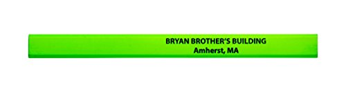 (Pencil Guy Promotional Personalized Imprinted Neon Carpenter Pencils Neon Green 72 to a)