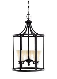 Sea Gull Lighting 51375EN3-839 Somerton Pendant, 3-Light LED 28.5 Total Watts, Blacksmith