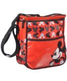 Disney Mickey Mouse Logo Print Red Mid Sized Diaper Bag