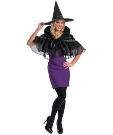 Disguise Womens 'Gothic Capelet' Adult Costume, Black,