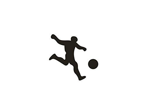 noir Autocollant amovible Football Player ordinateur portable autocollant voiture portable d/écoratif Paster Decal Facilement autocollants