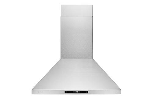 Chef Range Hood WM-538 | EUROPEAN STYLE SERIES | 3 Speed Stainless Steel Wall-Mount Range Hood | 860 CFM | Touch Screen, Easy Clean Baffle Filters, LED Lamps | Duct - Vent A-hood Contemporary Series