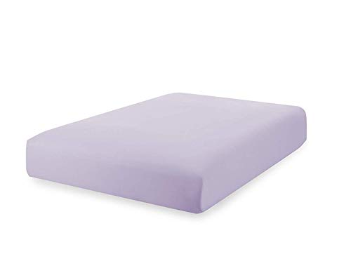 Superior Linen Fitted Sheet Queen Lavender 100% Cotton, Hypoallergenic and Breathable, Cool and Comfortable, Machine Wash and Dry (Queen Size - Lavender)