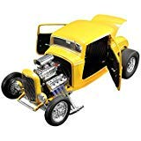 - 1932 Ford Blown 3 Window Deuces Wild Yellow Limited Edition to 960 Pieces Worldwide 1/18 Diecast Model Car by ACME A1805015