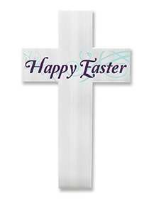 Yard Sign - Happy Easter Cross W/ Stake