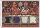 Raymond Felton; Raja Bell; Gerald Wallace; Emeka Okafor #25/35 (Basketball Card) 2009-10 SP Game Used - Fabric Foursomes - Level 3#F4-WBOF (Wallace Bell 2009)