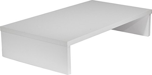 OFC Express TV Stand 25 x 14 x 5.25, Satin White (Widescreen Tv Console)