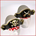US Toy Pirate Captain Cardboard Party Hats Costume (2-Pack of 12)