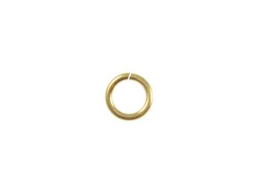 50 Pcs 14K Gold-Filled 6mm Jump Rings Jumplocks LOCKING Jumprings , OPEN, 18 gauge ga g thick by Gold-Filled (Image #2)