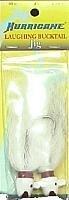 Hurricane Laughing Bucktail Jig, 3/4-Ounce, White