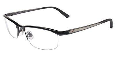 Nike Eyeglasses 6037 001 Black Chrome Demo 53 17 - Nike Rimless Eyeglasses