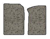 Mitsubishi Lancer Berber Floor Mats 2 Pc Fronts - Light Gray (2002 02 2003 03 ) AMSX3T4901Y94HG