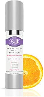 Belli Healthy Glow Facial Hydrator and Moisturizer | Vitamin C Face Cream for Oily, Dry, Sensitive Skin | Pregnancy Safe, Vegan, Non-Toxic, Hypoallergenic Beauty Formula | Natural Anti-Wrinkle Lotion