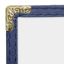 JR SALES CORP, VAL-D811-BLUE, 25 Pack of Menu Covers, 6 View Book, Holds 8.5'' x 11'' Inserts, Blue Leatherette Trim, Gold Decorative Corners, 10 Gauge Crystal Clear Panels,Restaurant Quality