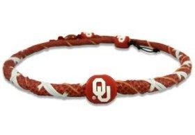 Classic Necklace Football Spiral - NCAA Oklahoma Sooners Classic Spiral Football Necklace