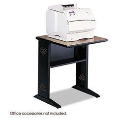 * Fax/Printer Stand w/Reversible Top, 1-Shelf, 23 1/2 x 28 x 30, Black/Medium Oak * -
