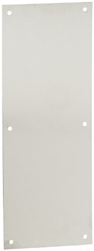 Rockwood 70E.32D Stainless Steel Standard Push Plate, Four Beveled Edges, 16