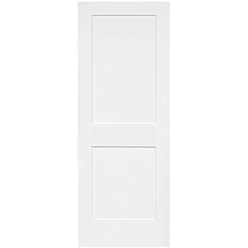 2-Panel Door, White Primed Shaker, Solid Wood Core, 80 in. x 1-3/8 in. (30x80) (Solid Wood Interior Doors)