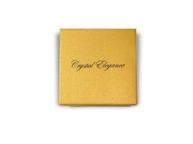 Pendentif avec boucles d'oreilles de mariée plaqué or 18ct - Cadeau de Noël - fait main
