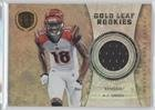 #7: A.J. Green #3/299 (Football Card) 2011 Panini Gold Standard - Gold Leaf Rookies - Materials [Memorabilia] #4