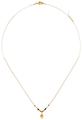 Chan Luu Women's Beaded Short Layering Necklace Cream Mix One ()