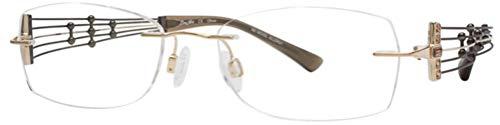 Charmant Line Art Women's Eyeglasses XL2010 XL/2010 BE Beige Optical Frame 51mm
