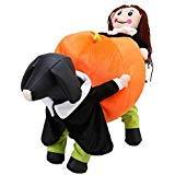KASQA Funny Pet Dog Cat Clothes - Carrying Pumpkin Costume Fancy Puppy Apparel Jacket (M(Back Length -