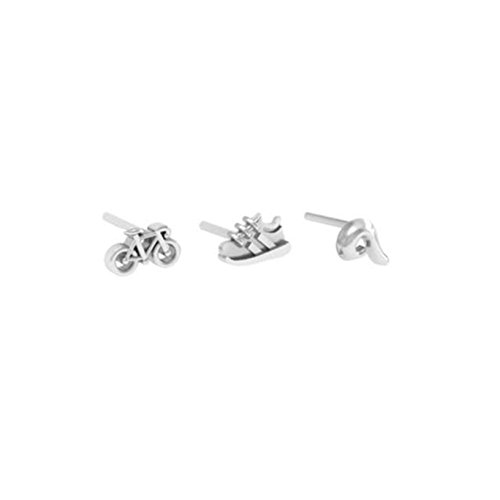 Triathlon 3-Piece Earring Stud Set