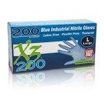 SEOH Nitrile Powder Free Industrial Grade Gloves - Pack of 200 MEDIUM